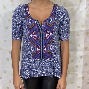 Anthropologie Tops - Anthropologie akemi + kim boho vneck top blouse S